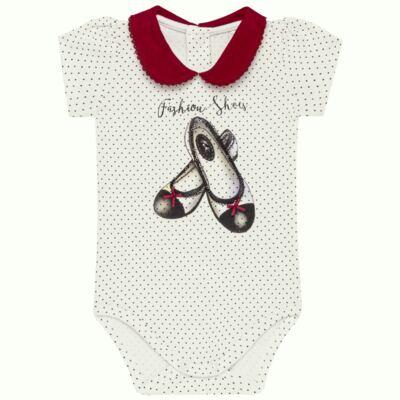 Imagem 1 do produto Body curto para bebe em cotton algodão egípcio Love Cute - Mini & Kids - BDGC0001.233 BODY M/C C/GOLA - COTTON-GG