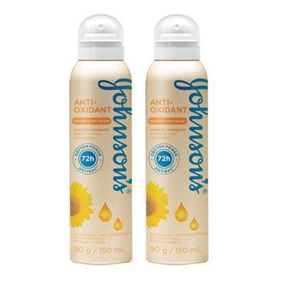 Imagem 1 do produto Desodorante Johnson´s Aerosol Anti-Oxidante 150ml 2 Unidades
