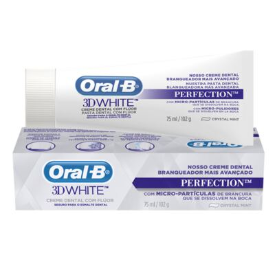 Imagem 3 do produto Kit Oral-B 2 Escovas Indicator 40 Plus + Creme Dental 3D White Perfect 75g