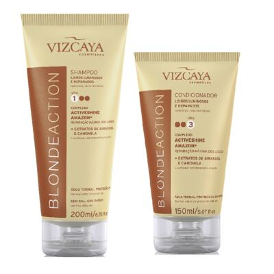 Imagem 1 do produto Shampoo Vizcaya Blonde Action 200ml + Condicionador Vizcaya Blonde Action 150ml