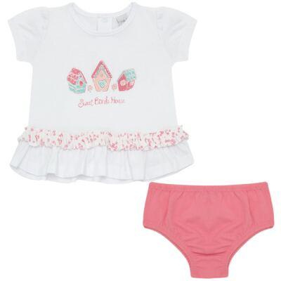 Imagem 1 do produto Bata com Calcinha para bebe em cotton Secret Home - Vicky Lipe - 831565 CONJUNTO BATA C/ CALCINHA COTTON-GG