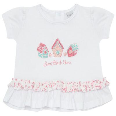 Imagem 2 do produto Bata com Calcinha para bebe em cotton Secret Home - Vicky Lipe - 831565 CONJUNTO BATA C/ CALCINHA COTTON-GG