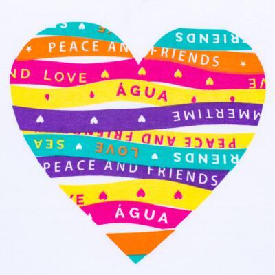 Imagem 3 do produto Conjunto de Banho Peace & Love: Camiseta + Biquíni - Cara de Criança - KIT 1 2586: B2586+CCA2586 BIQUINI E CAMISETA SUMMER-1
