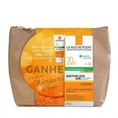 Imagem 2 do produto Kit Protetor Solar Facial La Roche-Posay Anthelios Airlicium Com Cor FPS 70 50g + Necessaire Verão