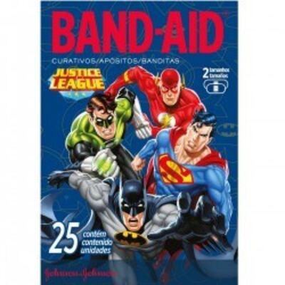 Imagem 1 do produto Curativo Band-Aid Liga da Justiça Johnson´s 25 unidades