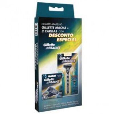 Imagem 1 do produto Aparelho De Barbear Gillette Mach3 Com 2 Cargas