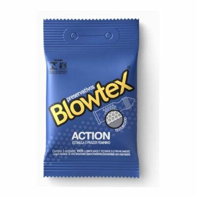 Imagem 3 do produto Kit Sensações Blowtex: 3 Preservativos Action + 3 Preservativos Prazer Prolongado + 1 Anel Vibrador