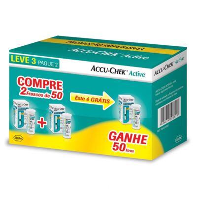 Imagem 1 do produto Kit Accu-Check Active 50 tiras 3 Frascos