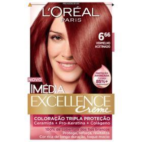 Tintura Permanente Imédia Excellence - 6.66 Vermelho Acetinado | 1 unidade