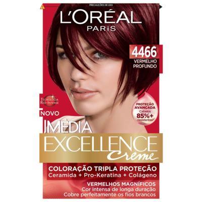 Imagem 3 do produto Tintura para cabelo Imédia L'Oréal 4466 Vermelho Profundo -