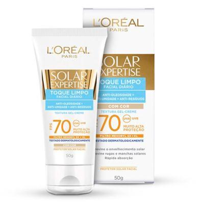 Imagem 4 do produto Protetor Solar L'Oréal Paris Solar Expertise Facial Toque Limpo com Cor FPS 70 - 50ml