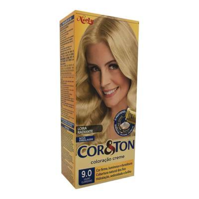 Coloração Creme Cor & Ton Niely Louro Claríssimo 9.0