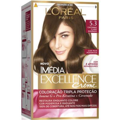 Imagem 2 do produto Coloração Imédia Excellence Creme Kit 53 Castanho Dourado -