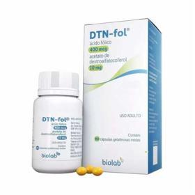 Dtn-Fol - 400mcg + 10mg, caixa com 90 cápsulas moles