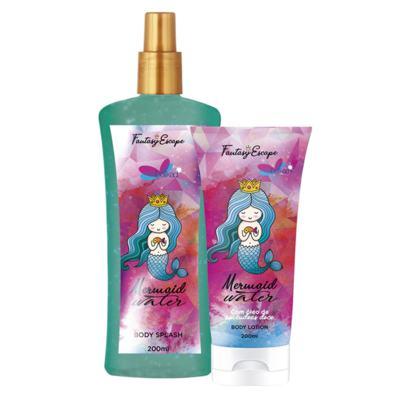 Imagem 2 do produto Delikad Fantasy Escape Mermaid Water Kit - Body Splah + Loção Corporal - Kit