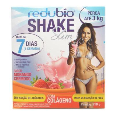 Imagem 1 do produto Redubío Shake Slim 210g  Sabor Morango - Redubío Shake Slim 210g Sabor Morango