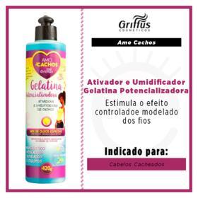 Griffus Gelatina Potencializadora Amo Cachos - Ativador e Umidificador - 400ml