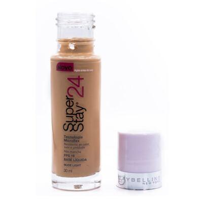 Imagem 4 do produto Super Stay 24H Maybelline - Base Facial - Nude Light