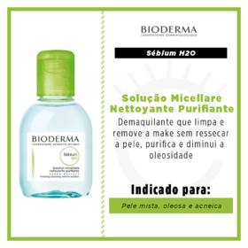 Sébium H2O Solução Micellare Nettoyante Purifiante Bioderma - Demaquilante - 100ml