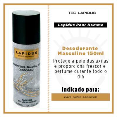 Imagem 3 do produto Lapidus pour Homme Déodorant Ted Lapidus - Desodorante Masculino - 150ml
