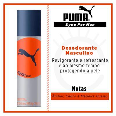 Imagem 2 do produto Sync For Men Puma - Desodorante Masculino - 150ml
