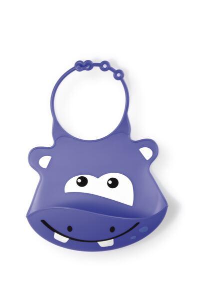 Imagem 1 do produto Babador de Silicone Silybib (Hipopótamo) Multikids Baby - BB044