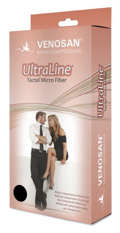 Imagem 1 do produto Meia Calça AT 20-30 mmHg Ultraline 4000 Venosan - PONTEIRA FECHADA PRETO P