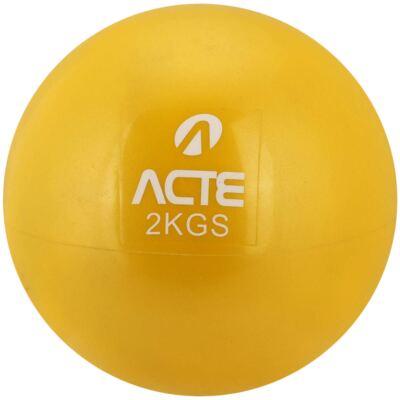 Imagem 1 do produto Par De Bolas Tonificadoras Com Peso 2kg Amarela T56 Acte