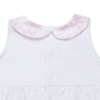 Imagem 3 do produto Macacão regata para bebe em algodão egípcio Toile du Jouy - Bibe - 41D05-A53 BANHO DE SOL FEM GERANIO-GG