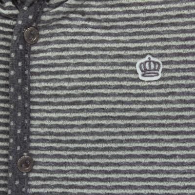 Imagem 2 do produto Casaco com capuz para bebe em malha Stripes - Mini & Classic - 75274169 CASACO DUPLA FACE MALHA-GG