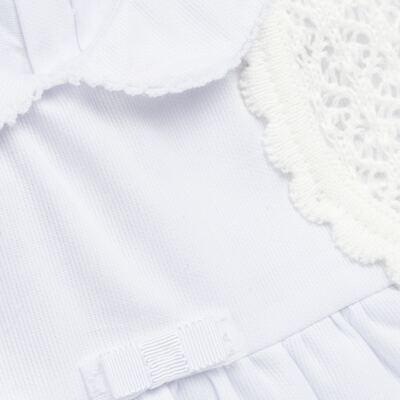 Imagem 2 do produto Vestido c/ Bolero para bebe em fustão Branco - Mini & Classic - 1425659 VESTIDO COM BOLERO TRICOLINE/BRANCO-M