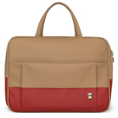 Imagem 2 do produto Mala Maternidade para bebe + Bolsa Genebra + Frasqueira Térmica Zurique + Trocador Portátil Due Colore Coral - Classic for Baby Bags