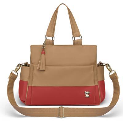 Imagem 3 do produto Mala Maternidade para bebe + Bolsa Genebra + Frasqueira Térmica Zurique + Trocador Portátil Due Colore Coral - Classic for Baby Bags