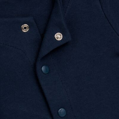 Imagem 2 do produto Casaco em algodão egípcio Marinho - Bibe - 10M03-15 CASACO BASICO CRISTAL MARINHO -G