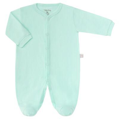 Imagem 1 do produto Macacão longo para bebe em suedine Mint - Tilly Baby - TB13113.11 MACACAO BASICO DE SUEDINE VERDE-P