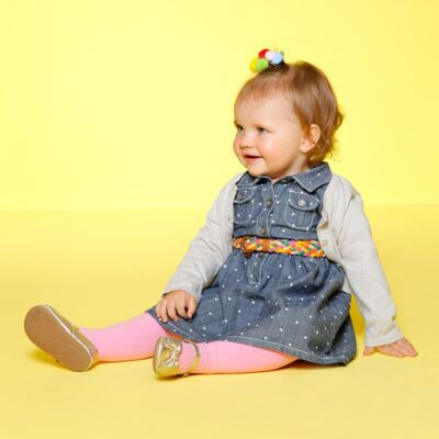 Imagem 4 do produto Meia calça para bebê em algodão Rosa - Puket