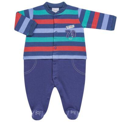 Imagem 1 do produto Macacão longo para bebe em suedine Skate - Tilly Baby - TB168401 MACACAO ML MASC SKATE-RN