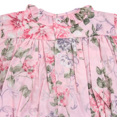 Imagem 5 do produto Macacão curto para bebe em tricoline Floral Deluxe - Roana - PIML0898046 PIMPAO LUXO ROSA -M