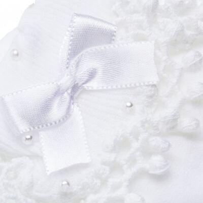 Imagem 5 do produto Meia para bebe Renda Laço & Pérolas Branca - Roana - 15830004001 Meia Bordada branco-GG
