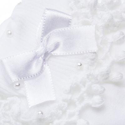 Imagem 4 do produto Meia para bebe Renda Laço & Pérolas Branca - Roana - 15830004001 Meia Bordada branco-GG