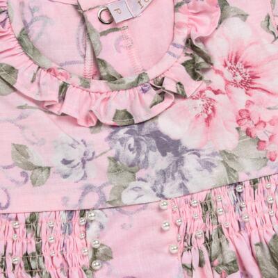 Imagem 2 do produto Macacão curto para bebe em tricoline Floral Deluxe - Roana - PIML0898046 PIMPAO LUXO ROSA -G