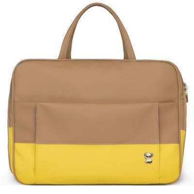 Imagem 2 do produto Mala Maternidade para bebe + Bolsa Genebra + Frasqueira Térmica Zurique + Trocador Portátil Due Colore Amarelo - Classic for Baby Bags