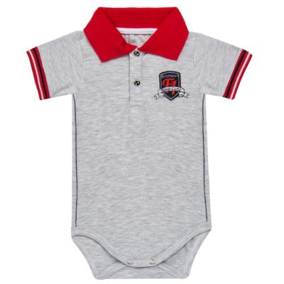 Imagem 1 do produto Body polo para bebe em cotton Race - Mini & Classic - BDBP668 BODY POLO AVULSO COTTON GRAND PRIX-M