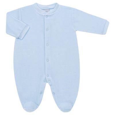 Imagem 1 do produto Macacão longo para bebe em plush Azul - Tilly Baby - TB13172.09 MACACAO BASICO DE PLUSH AZUL BEBE-RN