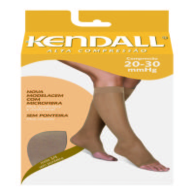 Imagem 1 do produto Meia Panturrilha 20-30 Alta Kendall - MEL PONTEIRA ABERTA M