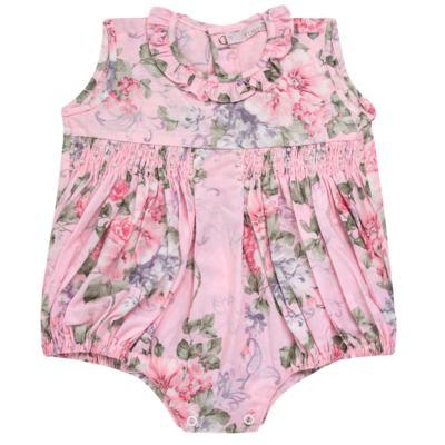 Imagem 1 do produto Macacão curto para bebe em tricoline Floral Deluxe - Roana - PIML0898046 PIMPAO LUXO ROSA -RN