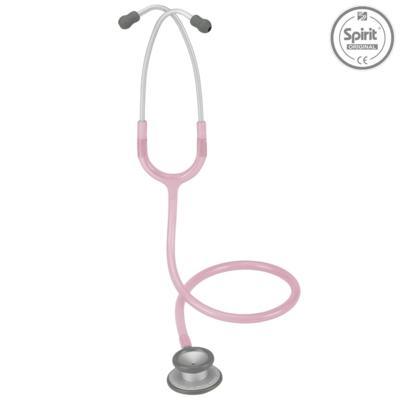 Imagem 1 do produto Estetoscópio Pro-Lite Adulto Rosa Transparente Spirit