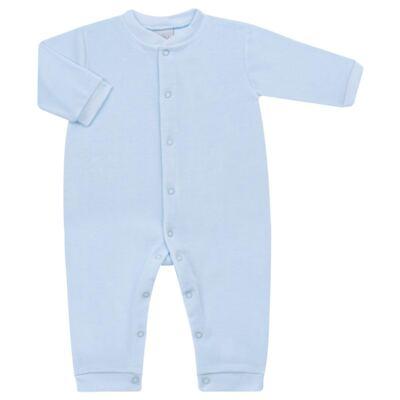 Imagem 1 do produto Macacão longo para bebe em plush Azul - Tilly Baby - TB13172.09 MACACAO BASICO DE PLUSH AZUL BEBE-G