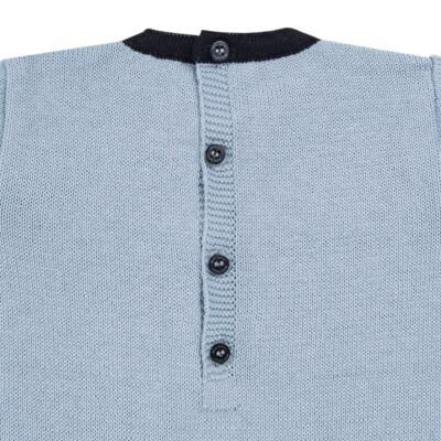 Imagem 3 do produto Macacão longo para bebe em tricot trançado Louis - Mini Sailor - 21774265 MACACAO COM TRANÇAS TRICOT AZUL BEBE-6-9