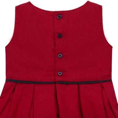 Imagem 3 do produto Vestido c/ Calcinha para bebe em fustão Scarlet - Mini Sailor - 14474263 VESTIDO C/ VIVO FUSTAO VERM ESC-NB